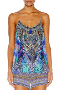 Camilla Moon Dance Tback Shoestring Strap Top