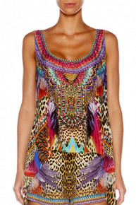 Camilla Kingdom Call Long Back Scoop Neck Singlet