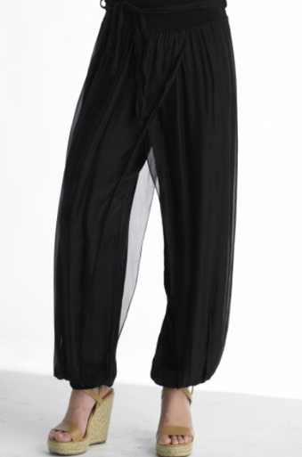 Tempo Paris 4800T Silk Pant Black