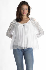 Tempo Paris Silk Top 7789T White