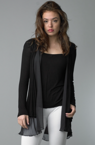 Tempo Paris Jersey Silk Jacket 2802 Black