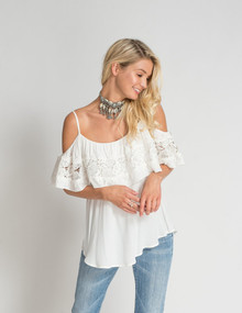 Muche et Muchette Eliza Drop Shoulder Top White