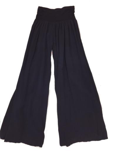 Tempo Paris 11211SO Flowy Silk Blend Pants Navy
