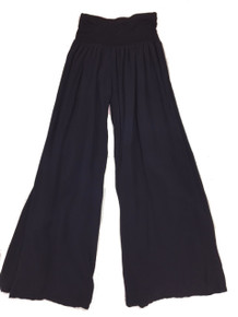Tempo Paris 11211SO Flowy Silk Blend Pants Navy