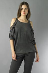 Tempo Paris Knit Top 6999CA Dark Grey