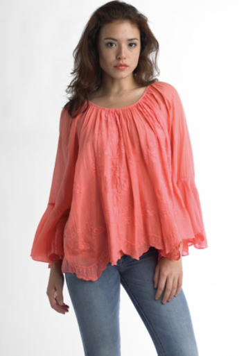 Tempo Paris Gauze Top 46668 Coral