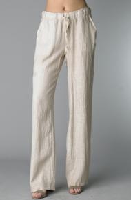 Tempo Paris Linen Pants 8265 Beige