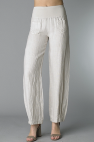 Tempo Paris Linen Pants 65075 Beige