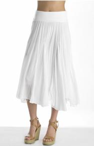 Tempo Paris Cotton Skirt 977 White