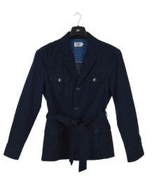 Newman Men's Linen Saharan Jacket Navy