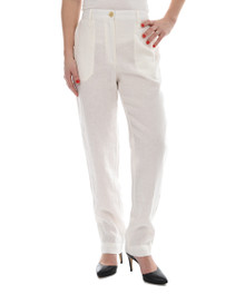 New Man Women's Linen Pant Off White
