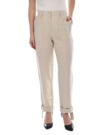 New Man Women's Linen Pant Beige