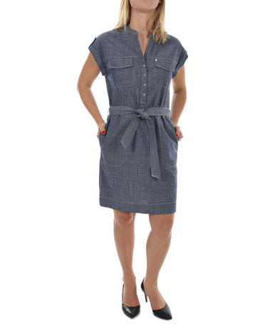 New Man Women's Short Sleeve Dress Denim