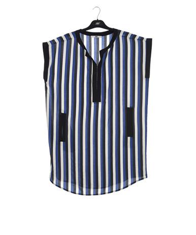 New Man Women's Short Sleeve Striped Dress