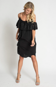 Muche et Muchette Eliza  Drop Shoulder Dress Black