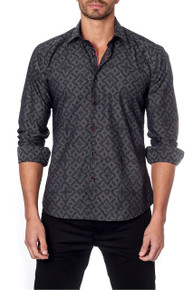 Jared Lang Button Down Shirt Louis Black