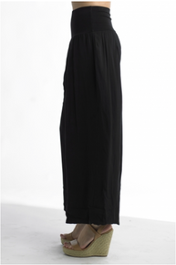 Tempo Paris 11211SO Flowy Silk Blend Pants Black