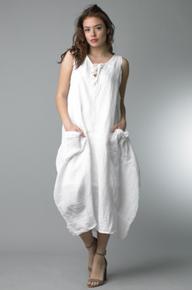 Tempo Paris Linen Dress 70266 White