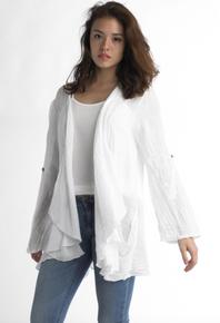 Tempo Paris Linen Jacket 6005 White
