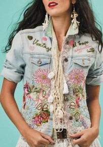 Antica Sartoria S112 Embroidered Denim Jacket