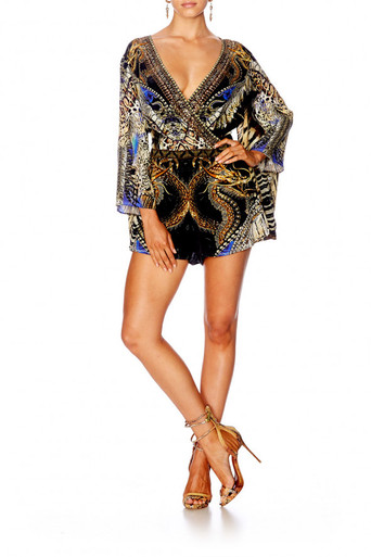 Camilla Dragon Lady Kimono Sleeve Playsuit