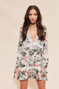 For Love and Lemons Luciana Swing Dress Ivory Floral