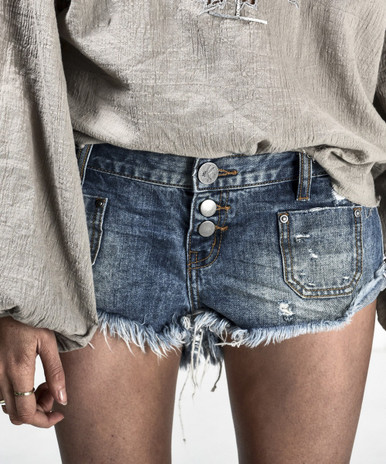 One Teaspoon Denim Cut Off Shorts NO 2s Royale