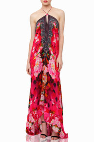 Shahida Parides Flamingo Pink Rose Three Way Dress