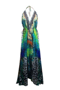 Shahida Parides Peacock Feather Three Way Dress