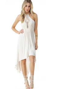 Sky Pancrazi High Low Dress Bone