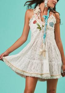 ntica Sartoria A120 Embroidered Cami Dress