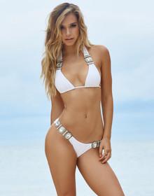 Beach Bunny Swimwear Material Girl Bikini Set White