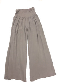 Tempo Paris 11211SO Flowy Silk Blend Pants Taupe