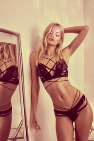 Skivvies by For Love and Lemons Vega Underwire Bra Black