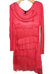 Tempo Paris Silk Tiered Dress 9713MON Red