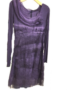 Tempo Paris Silk Tiered Dress 9713MON Purple
