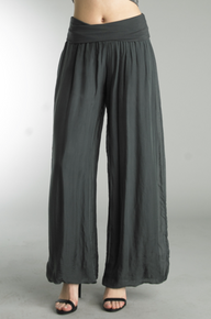 Tempo Paris 9992JA Silk Pant Dark Gray