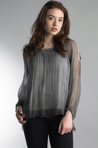 Tempo Paris 877MG Silk Top Dark Gray