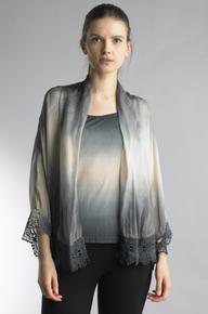 Tempo Paris 851MG Silk Cami and Jacket Set Gray
