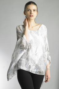 Tempo Paris 3633JA Silk Print Top White