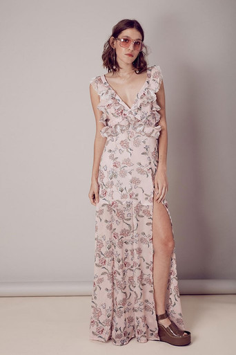 For Love and Lemons Bee Balm Maxi Dress