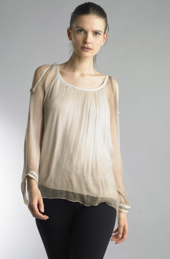 Tempo Paris 877MG Silk Top Taupe