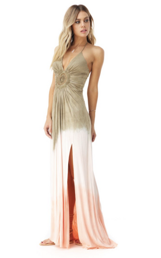 Sky Ramborg Maxi Dress Bronze Tie Dye