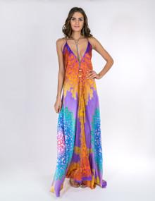Trisha Paterson Silk Stretch Dress Purple Sunrise 24