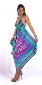 Trisha Paterson Silk Stretch Dress Venus Green 43