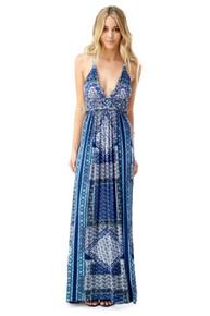 Sky Truidy Maxi Dress Blue