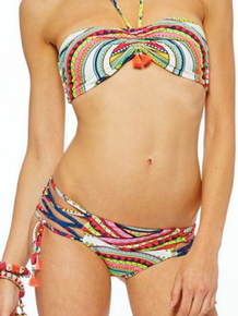 Mara Hoffman Lace-up Bottom and Bandeau Ganesh White