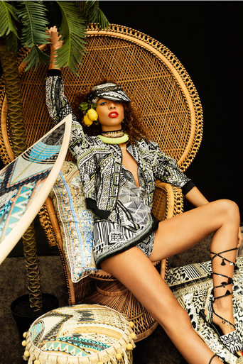 Camilla Hanging Around Cap Sleeve Playsuit