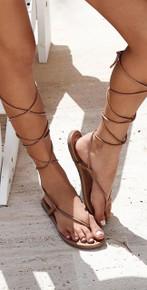 PilyQ Gladiator Sandal Tan