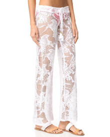 PilyQ Water Lily Flora Lace Pant White